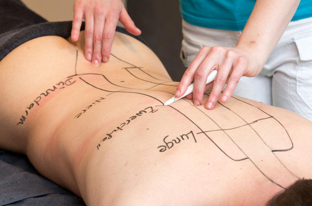 Meridianbehandlung, Massageinstitut Naoruba Innsbruck